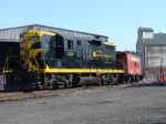 GP-9 # 1267 begins the day by shuffling cars in the yard