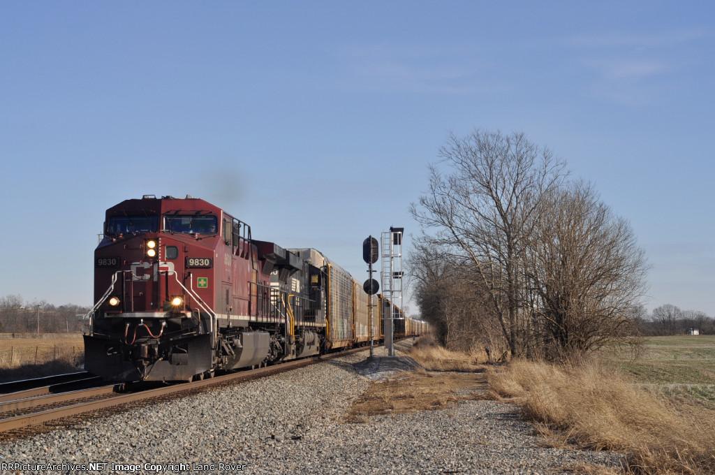 CP 9830 On NS 288 Westbound