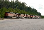 A group of 6 BNSF units lays over during the Christmas and New Year's break