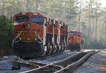 BNSF 8082 and 7068 lead a group of 6 and 2 units laying over for the Christmas and New Year's break