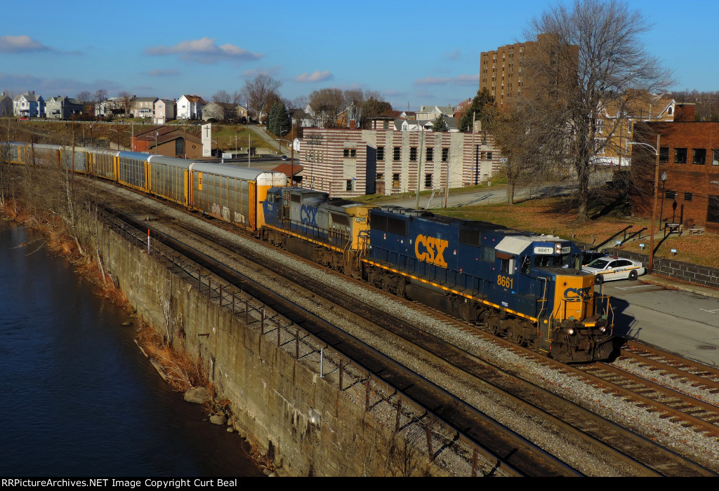 CSX 8661 and 7701