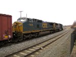 CSX 7649 and 4575