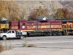 Boston & Maine Heritage with RCPX tag at Utah Railway yard