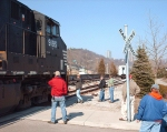 About to enter the siding.
