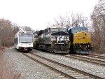 NJT 3511, NS 8041, CSX 7668