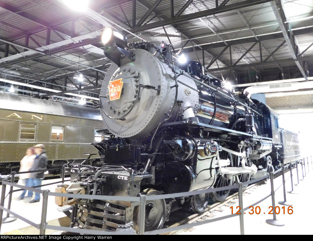 "The newly restored ""Lindbergh Engine"" PRR 460"
