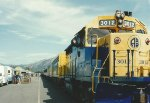 Southbound passenger train at Denali Park, AK