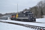 8420 and 1822 rest outside in the cold Ohio Winter.