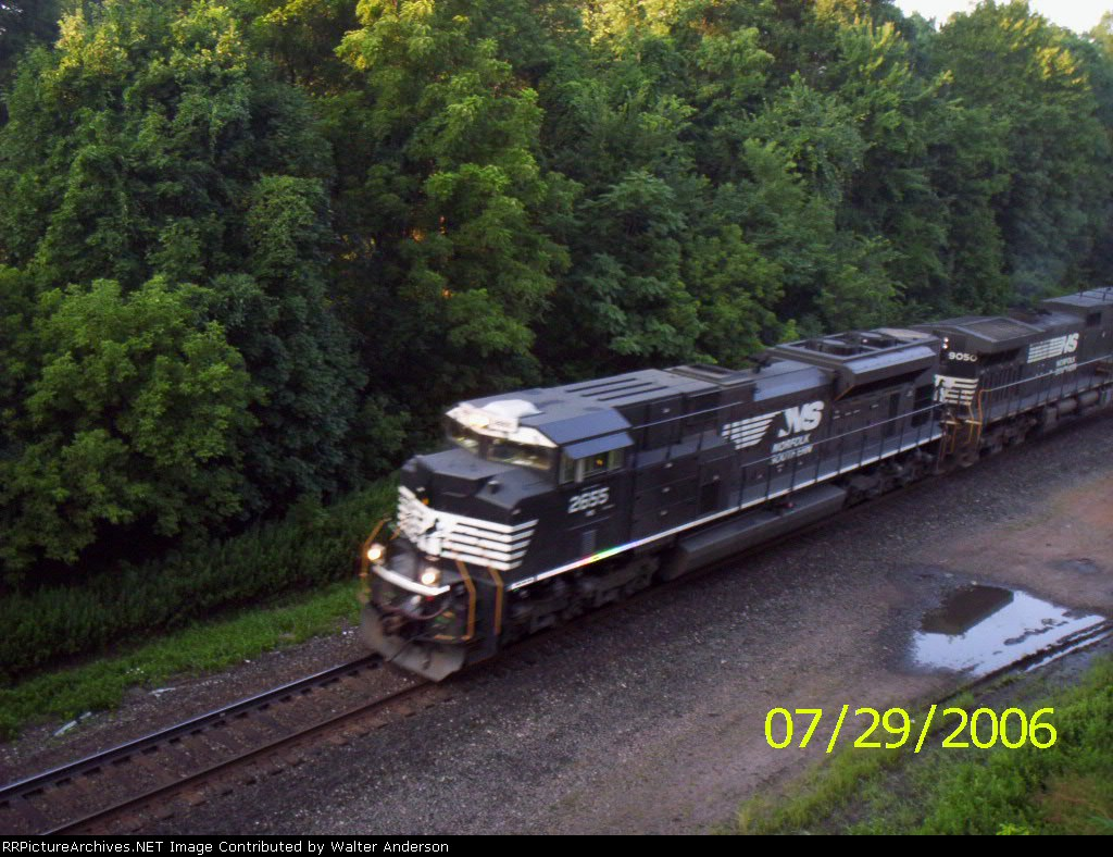NS 2655 & 9050 on an eastbound TOFC