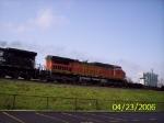 BNSF 817 trailing