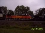 With BNSF 4566 trailing