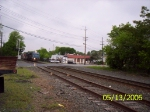 NS 8378 heads EB through the Metuchen Rd. crossing
