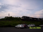 NS 9678 leads a westbound double stack train