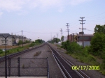 Looking westbound down the line