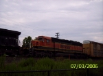 BNSF 8046 on a WB NS autorack train