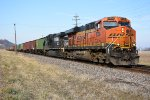BNSF 5730 crawls into town.