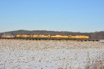 All Emd's on a eastbound stack train.