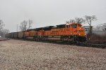 BNSF 9043 Drags a loaded coal into North Saint Louis.