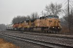 UP 6912 Crawls south with a loaded sand train bound for Texas.