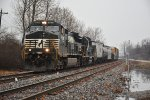 NS 9578 Drags a local out of Luther yard.