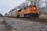 BNSF 9149 leads D99 east while it waits on ns 112