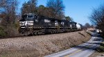 NS 9422 leads NS 163 along Fox Road