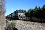NS 7292 leads westbound NS grain train near Bearden