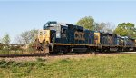 CSX 2292 leads road freight 699 at KD mp 262