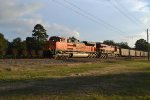 BNSF on a KCS train on UP rails