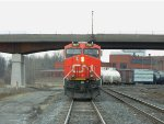 CN L531 reversing in Fort Erie, ON with ES44AC #2927