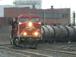 CP 246 awaits its clearance to go across the International Bridge in Fort Erie, ON