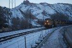 The ZDV-SL unters Devil Slide, Utah as A Brand New UP Tier 4 Locomotive Leads this Hot Z Train to Salt Lake City Utah!!!