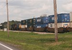 CSX ES40DC 5378 and C40-8W 7685 head east