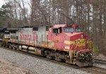 BNSF 677 leads NS train 338