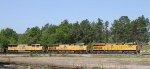 UP 7937, UP 7819, and UP 5169 lead CSX train S614 towards the yard