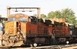 BNSF 7491 & 7426 sit at the fuel racks in NS Glenwood Yard