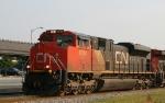 CN 8014 leads CSX train K898