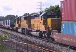 UP 3266 & UP 4403 are switching some intermodal cars