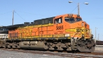 BNSF 5666 sits with other NS units