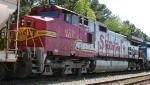 BNSF 679 trails a leaser on a CSX train