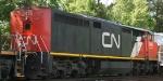 CN 2415 rear view as it heads north on CSX train Q494