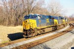 CSX 3168 leading 9 other CSX on lite power move (2)