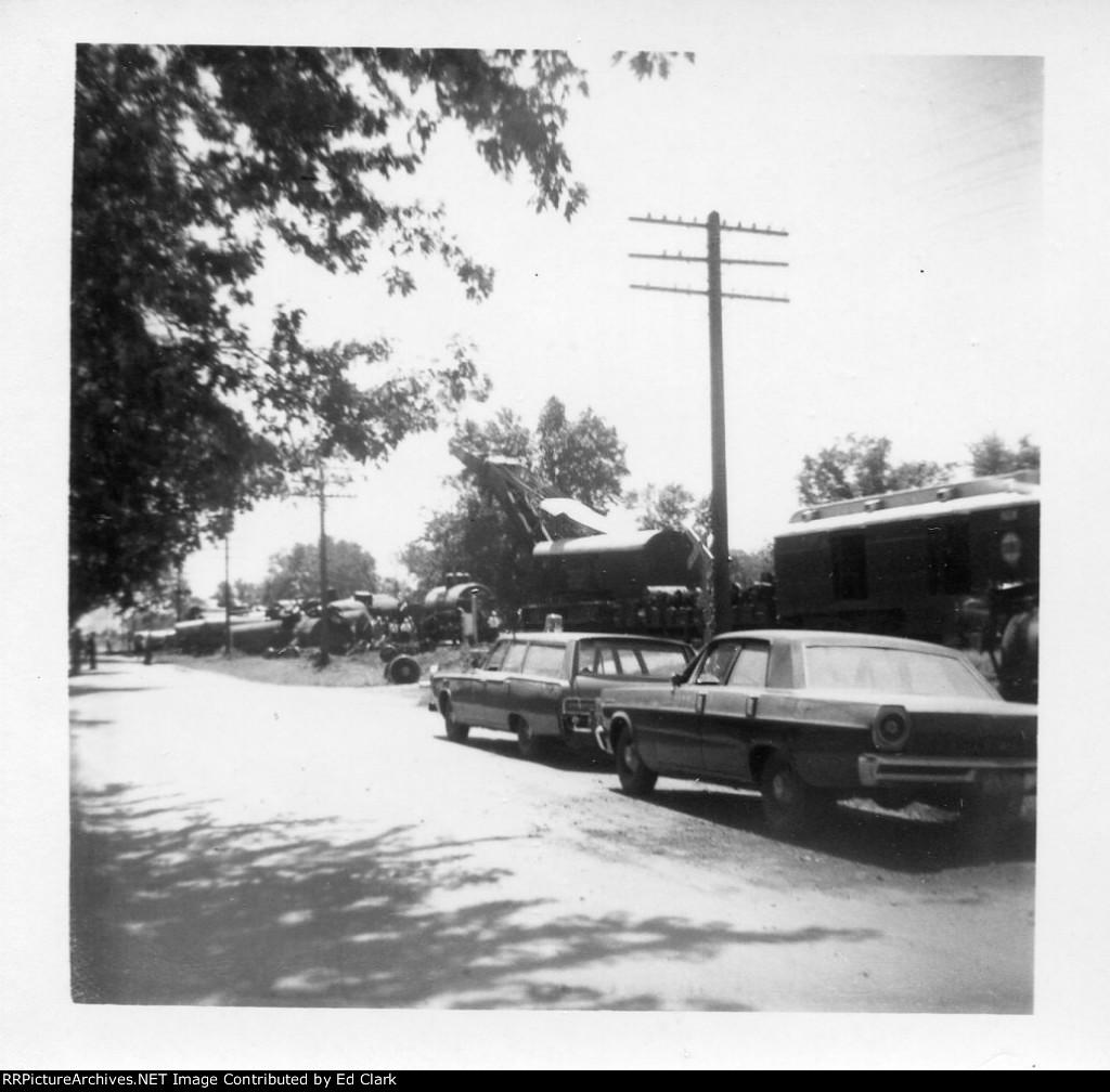 Wabash/N&W wreck Montgomery City , Missouri Mid-1960's