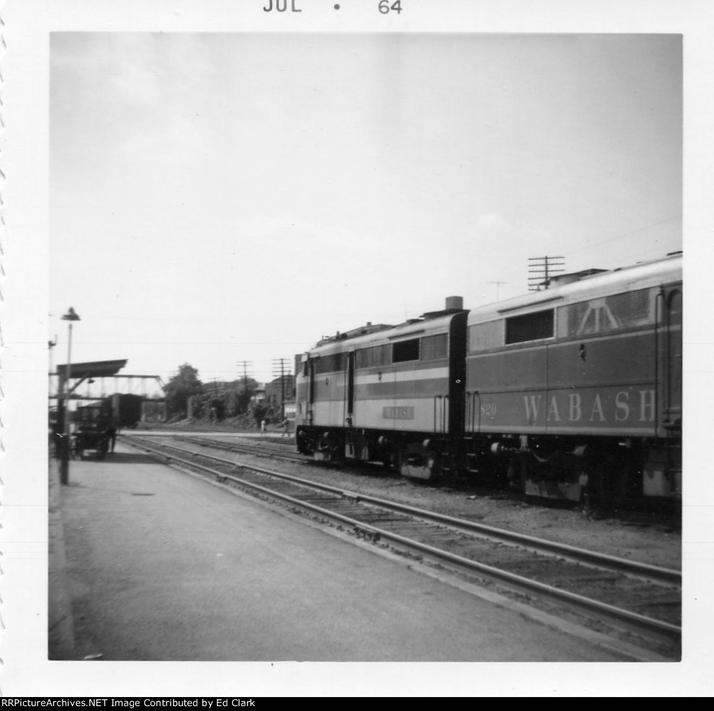 Wabash local looking West  July 1964