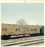 Troop Sleeper converted to M of W car Freight house  1965-68?