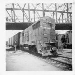 Wabash switcher at Clark St. bridge  1965-68?