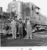 "GM&0 Engine house  crew of the ""Vandalia Turn"" March 1968"