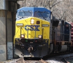 CSX 5003 and 4816 under Rt. 15 bridge.