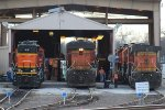 BNSF 1570, 7342, and 4191
