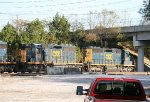 CSX SD40-3's 4076 and 4045 pause
